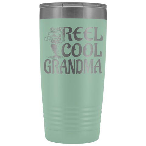 Image of Reel Cool Grandma Fishing 20oz Tumbler teal