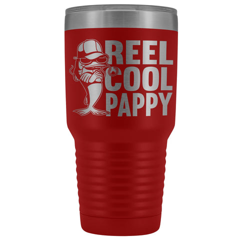 Reel Cool Pappy Fishing Pappy Tumbler red