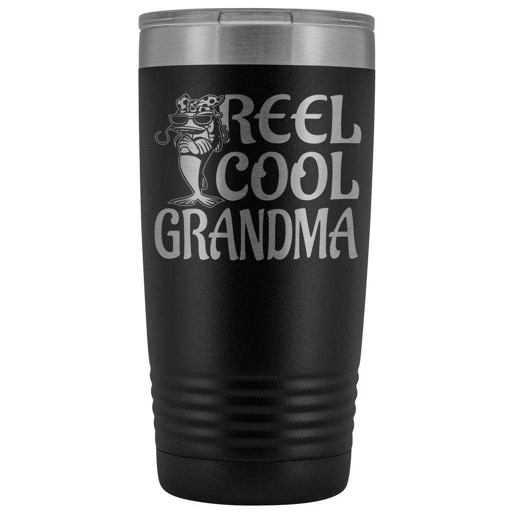 Reel Cool Grandma Fishing 20oz Tumbler black