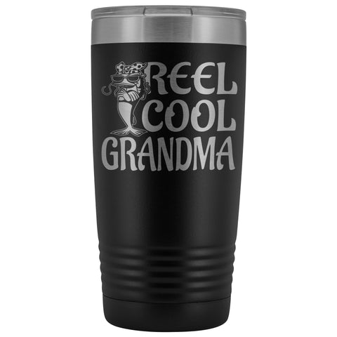 Image of Reel Cool Grandma Fishing 20oz Tumbler black