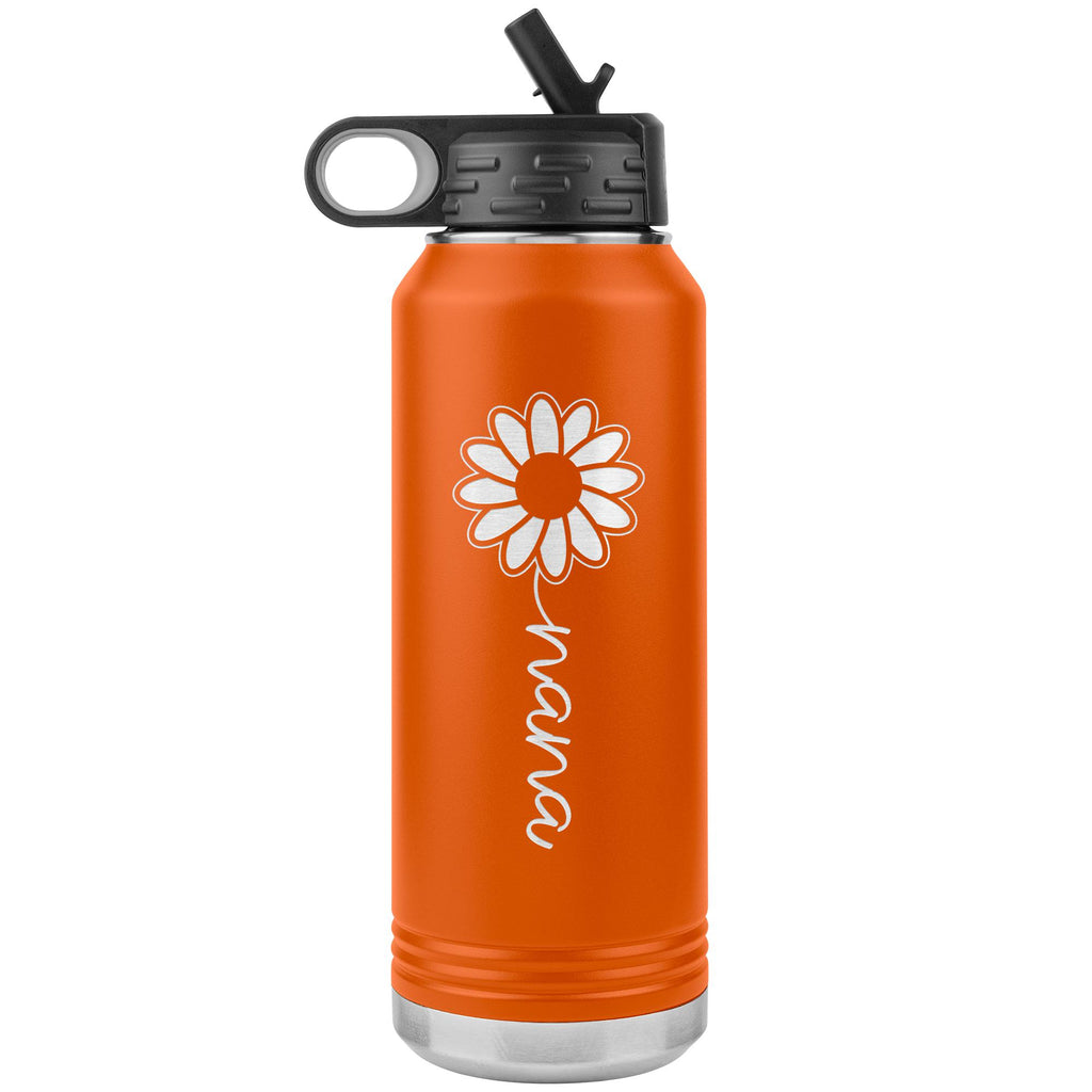 Sunflower Nana Water Bottle Tumblers orange