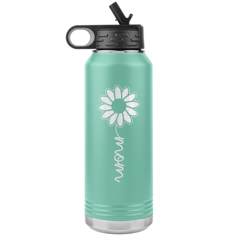 Sunflower Mom Water Bottle Tumblers teal