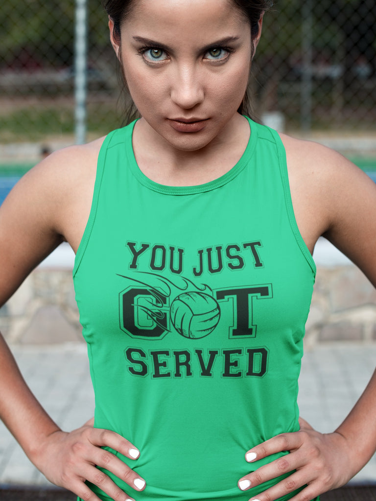 You Just Got Served Volleyball Tank Top