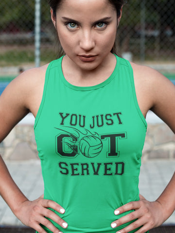 Image of You Just Got Served Volleyball Tank Top