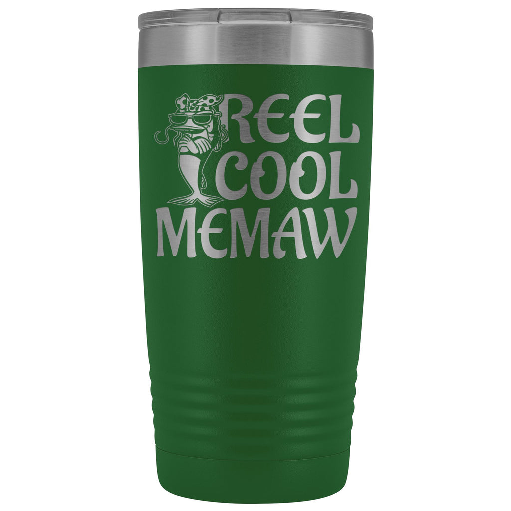 Reel Cool Memaw Fishing 20oz Tumbler green