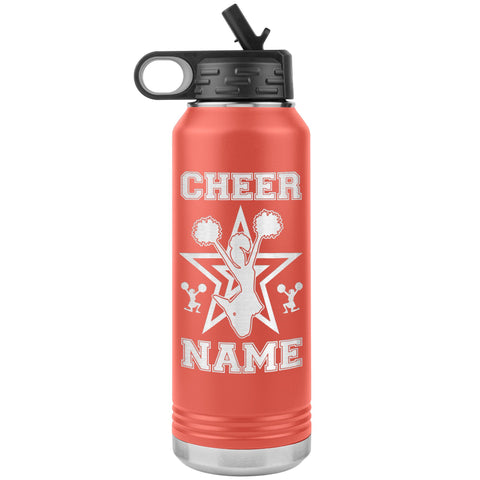 32oz Cheerleading Water Bottle Tumbler, Cheer Gifts
