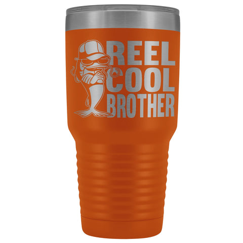 Image of Reel Cool Brother 30oz.Tumblers Brothers Travel Coffee Mug orange