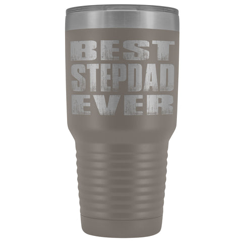 Best Stepdad Ever 30 Ounce Vacuum Tumbler pewter