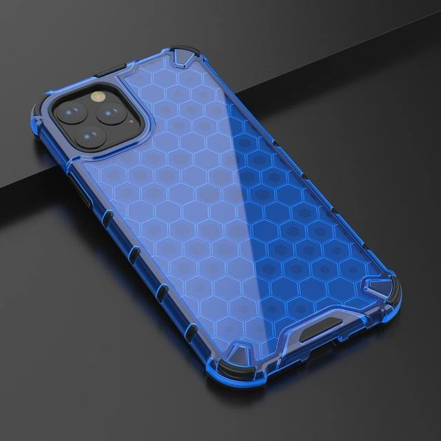 Honeycomb Clear Shockproof iPhone 11 Cases - MaviGadget