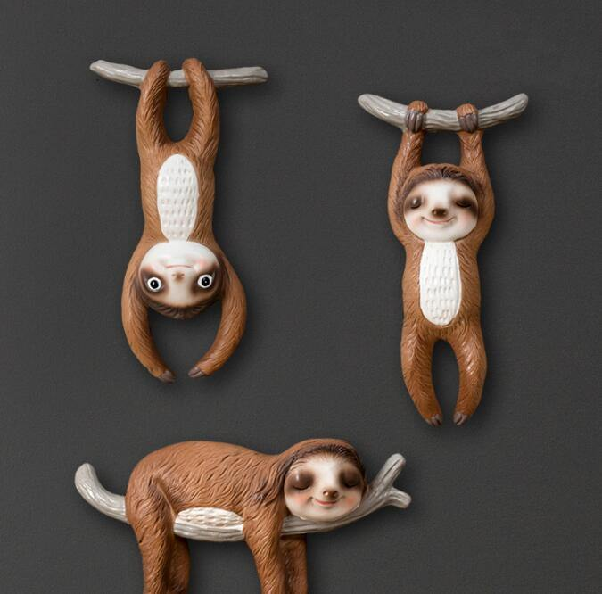 Sloth Animal Wall Hanging Sculpture