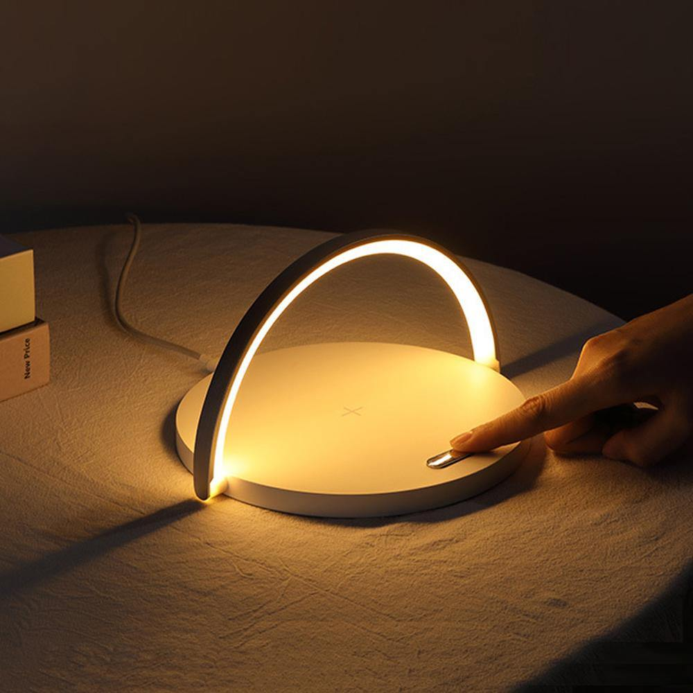 2 in 1 Arc Wireless Charger with Lamp