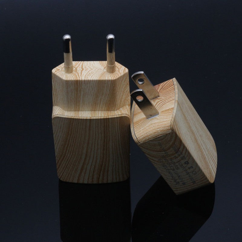 Wooden Single Fast USB Mobile Phone Charger - MaviGadget