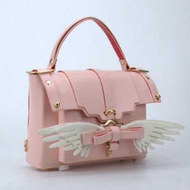 Angel Wing Lock Genuine Leather Women Bag - MaviGadget