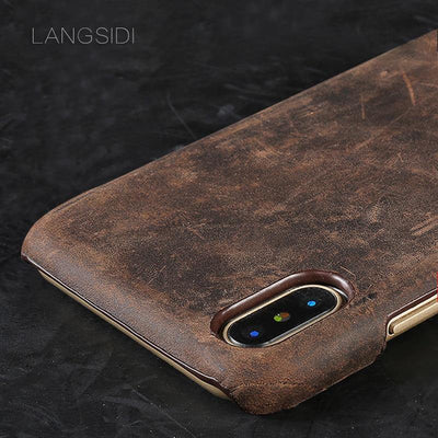 Handmade Luxury Genuine Leather Iphone Case - MaviGadget