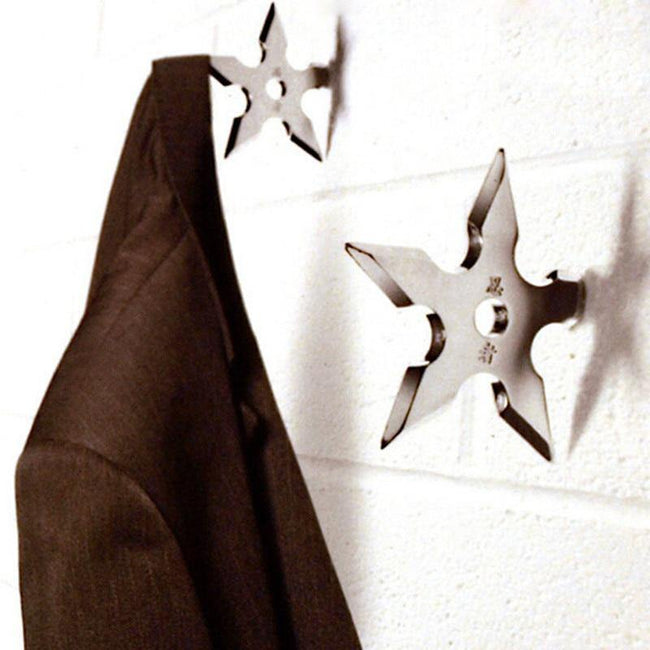 Stainless Steel Ninja Darts Wall Hanger - MaviGadget