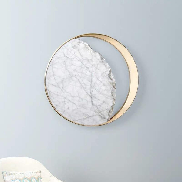 Waning Gibbous Moon Led Marble Wall Lamp