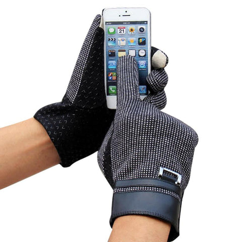 Outdoor Sport Warm Screen Gloves Male