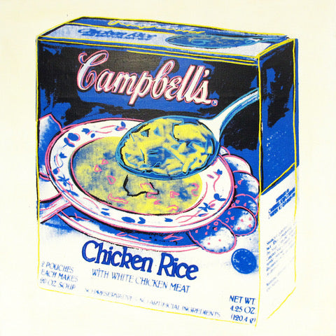Campbell's Soup Box - Chicken and Rice, Signed