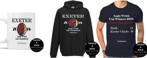 Exeter Chiefs Anglo Welsh Cup Winners 2018 Hoodies, Mugs & T-shirts
