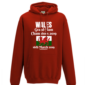 Wales Hoodie -  Grand Slam Winners 16th March 2019