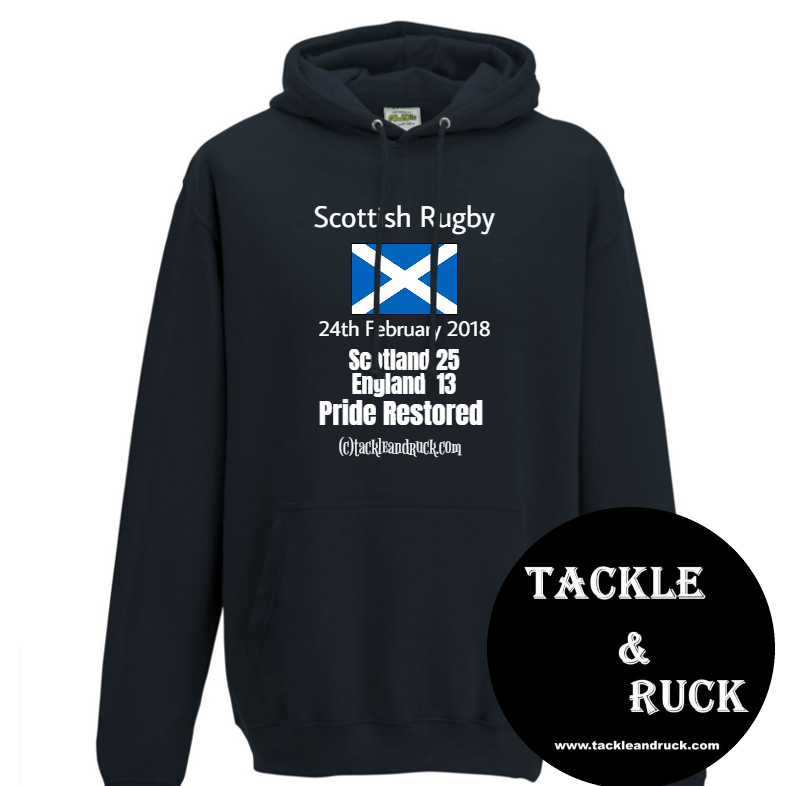 Scotland Rugby Hoodie-24th February 2018 Pride Restored V England