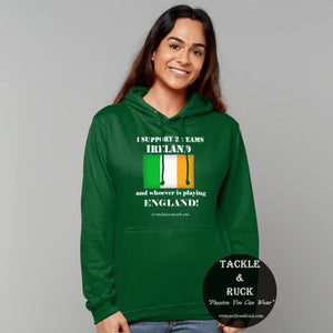 Tackle & Ruck - Irish Rugby Hoodies and Gifts - Ireland Rugby Union Hoodies for England Game