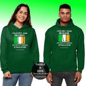 Irish Rugby Hoodies and Gifts - Get Six Nations Ireland Rugby Union Hoodies for England Game