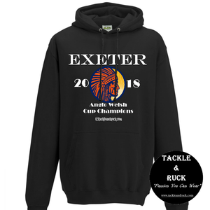 Rugby Hoodie - Exeter Chiefs 2018 Anglo Welsh Cup Winners
