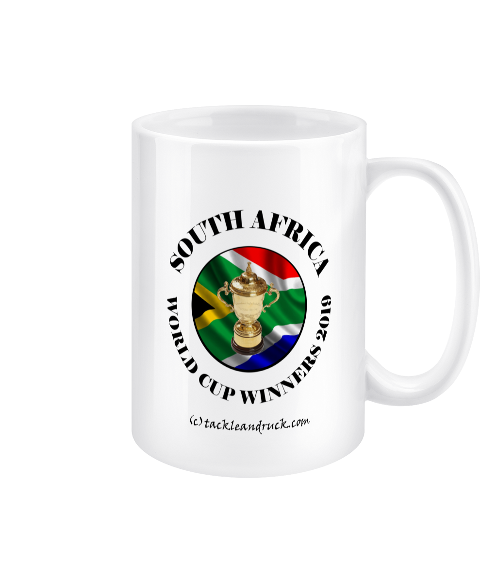 11oz South Africa Rugby World Cup Winners Mugs - Left