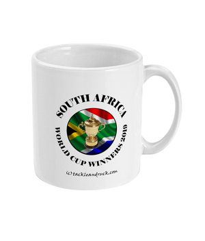 15oz South Africa Rugby World Cup Winners Mugs - Left