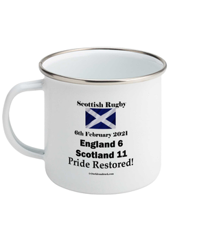 Tackle and Ruck - Scottish Rugby Mugs Gifts - Calcutta Cup 2021 Win - Pride Restored