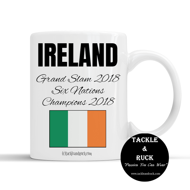 Rugby Mug - Ireland Grand Slam 2018 Six Nations Winners 2018