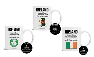 Rugby Mug - Ireland Grand Slam Winners 17th March 2018