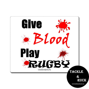 Rugby Mouse Mat - Give Blood Play Rugby