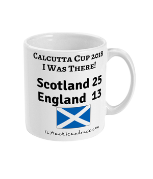 Rugby Mug - Calcutta Cup 2018 I Was There