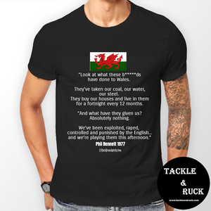 Men's T-Shirt Phil Bennett Speech 1977