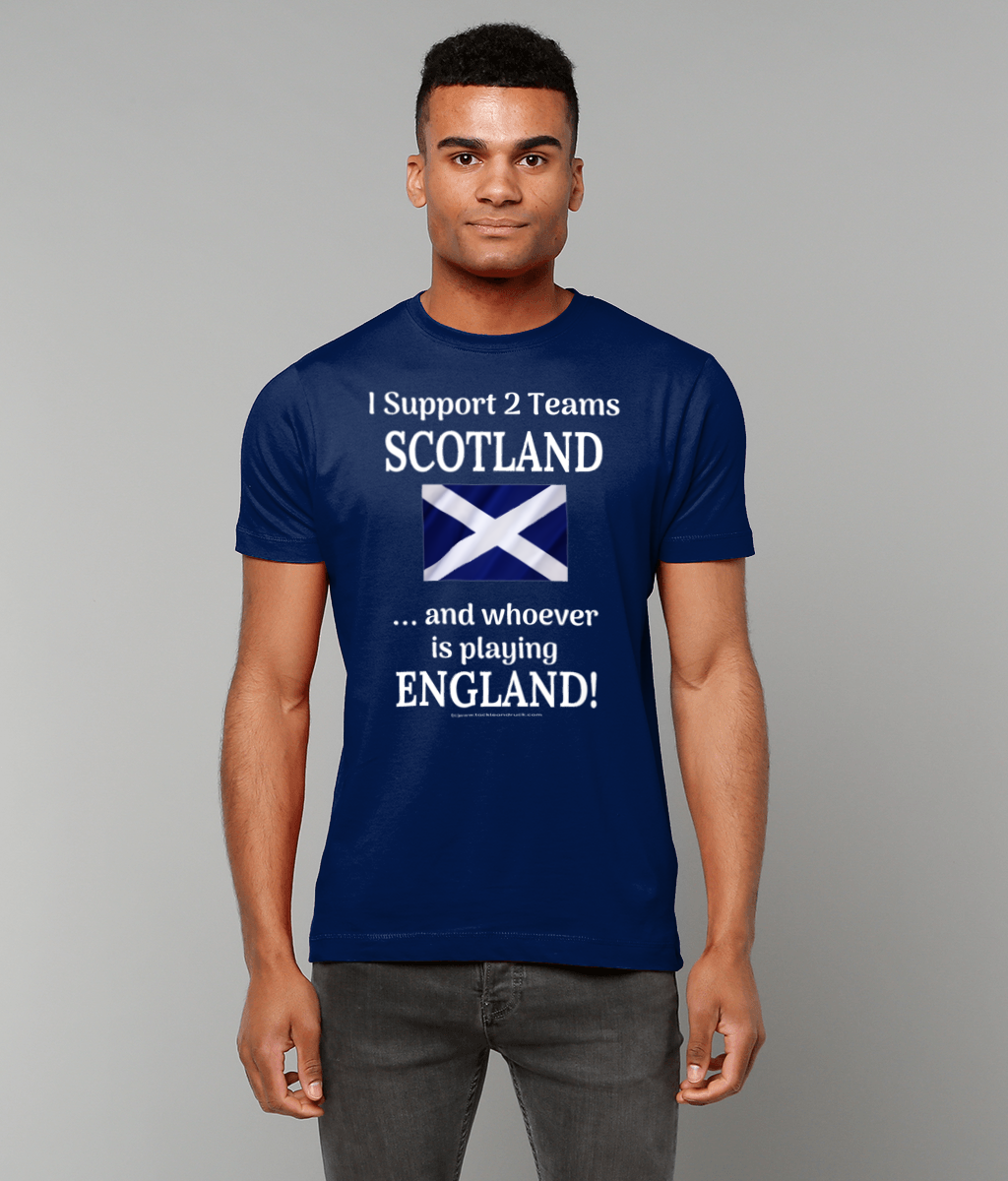 Men's Rugby T Shirt - I Support 2 Teams Scotland & Whoever's Playing England