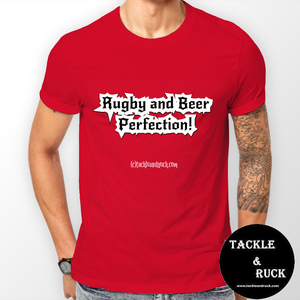 Rugby T-Shirt - Rugby And Beer Perfection