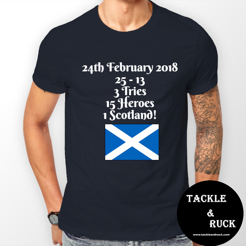 Men's T-Shirt - 24th February 2018 Scotland 25 England 13