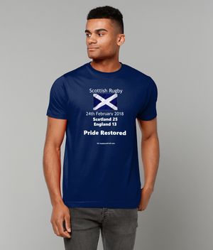Men's T-Shirt - Scottish Rugby 24th February 2018 Pride Restored
