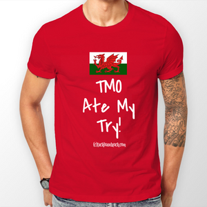 Wales Men's Rugby T Shirt - TMO Ate My Try!