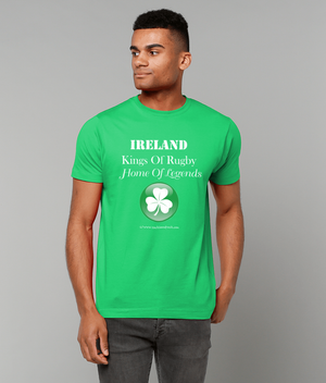 Men's Rugby T Shirt - Ireland Kings Of Rugby Home Of Legends