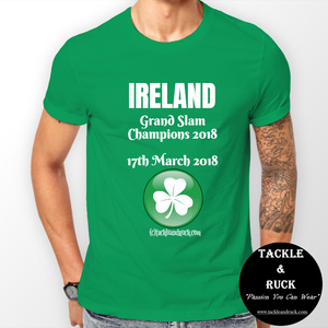 Men's Rugby T Shirt - Ireland Grand Slam Winners 17th March 2018
