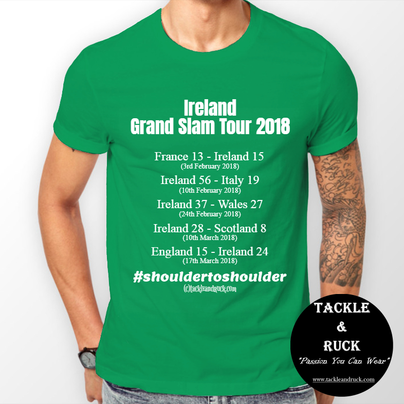 Men's Rugby T Shirt - Ireland Grand Tour 2018 #shouldertoshoulder