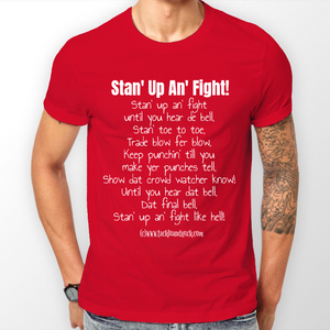 Munster Men's T-Shirt - Stan' Up An' Fight - Stan' Toe To Toe