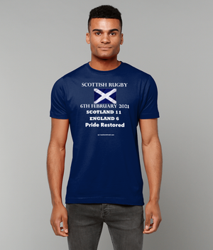 Tackle & Ruck - Scotland Rugby T Shirts Tees Calcutta Cup 2021 6th February Twickenham
