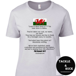 Women's T-Shirt Phil Bennett Speech 1977