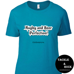 Women's T-Shirt - Beer And Rugby Perfection