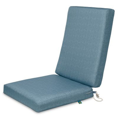 Weekend Water-Resistant 44 inch x 20 inch x 3 Inch Outdoor Dining Chair Cushions, Blue Shadow