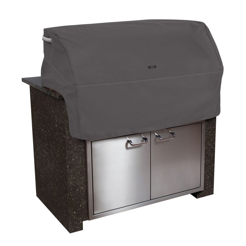 Classic-Accessories-Ravenna-Water-Resistant-37-Inch-Built-in-BBQ-Grill-Top-Cover-Taupe